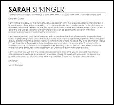 Cover Letter For Paraprofessional Job Template Ybit