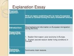 how to write an essay  explanation essay