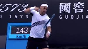 Furious Fognini punches racket