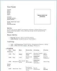 Acting Resume For Beginners Sarahepps Com