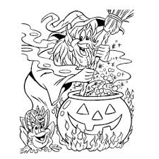 Een Heleboel Griezelige Heksen Kleurplaten Leuk Voor Kids