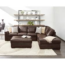 Living Room With Brown Leather Sofas Sectionals Chaises