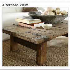 rustic cocktail table pottery barn rustic door coffee table love
