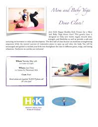 mom and baby yoga demo cl in norwood