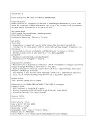 Professional Profile Resume Extraordinary Finance Resume Sample Degree Professional Profile Examples Example