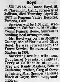 Obituary for Boyd Boyd (Aged 56) - Newspapers.com