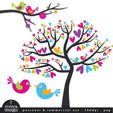 love birds in tree clipart.  Tree Digital Clip Art  Love Birds Lollipop Cheerful Pink Purple Blue Inside In Tree Clipart B