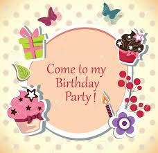 Birthday Party Invitation Birthday Party Invitation Card Royalty Free Cliparts Vectors And