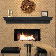 floating shelf above fireplace black leather stools with side table and fireplace mantle with mantel shelf
