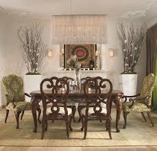 thomasville cara rectangular dining leg table w leaf extensions