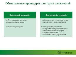Презентация на тему Компетентностный подход в формировании  8 Обязательные процедуры