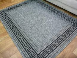 flatweave gest greek key silver grey floor rug 6mm thick greek pattern rug greek key