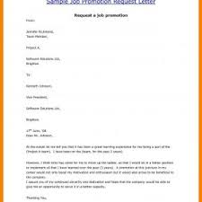 Job Promotion Request Letter Sample Valid Sample Job Promotion ...