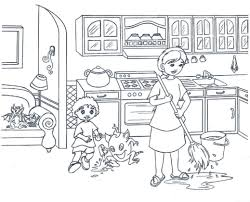 Small Picture Kitchen Coloring Pages Coloring Pages