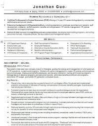 Sample Senior HR Generalist Resume