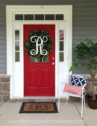 front door monogramDIY Monogram Spring Wreath  The Happier Homemaker