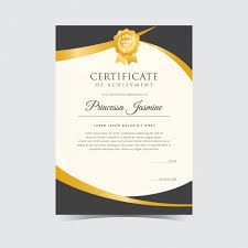 Sample Certificates Templates Golden Certificate Template Vector Free Download