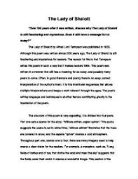 lady of shalott critical analysis essay power point help  lady of shalott essay big detail