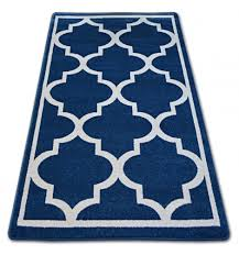 carpet sketch f730 blue white trellis