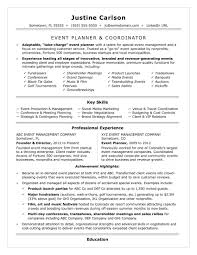 Event Planner Resume Template Event Coordinator Resume Sample Monster Event Planner Resume 1