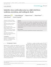 Pdf Initial Low Dose Oral Levothyroxine In A Child With