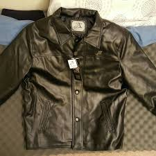 a collezioni black leather jacket