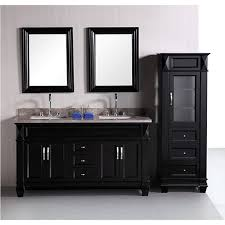 60 inch double sink vanity. design element hudson 60-inch double sink bathroom vanity set with linen tower accessory cabinet 60 inch