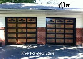 painted wood garage door. Brilliant Door Okay The Panel Inserts Are Not Real Wood So I Faked A Faux Paint Technique Inside Painted Wood Garage Door I
