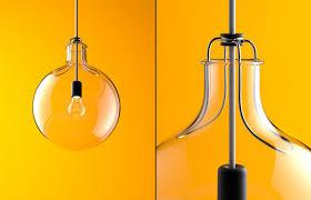 blown glass lighting. plain lighting lamp no2 is a simple blown glass  with blown glass lighting