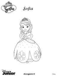 Coloriages Princesse Sofia En Robe De Bal Fr Hellokids Com