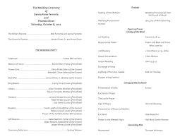Templates For Wedding Programs Catholic Wedding Program Template 7