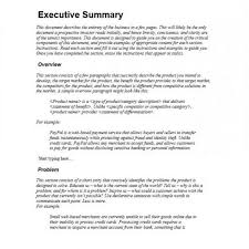Executive Summary Outline Executive Summary Outline Examples Format Company