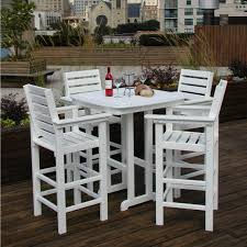 bar height outdoor dining sets awesome high top patio table