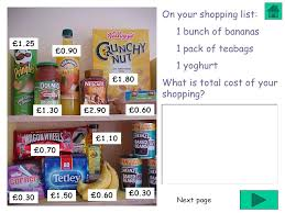 Going To The Supermarket Shopping List Compare Prices Ppt