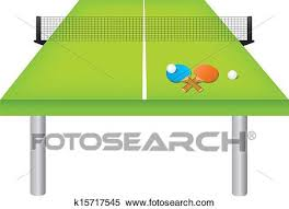 ping pong table clip art. Fine Ping Clipart  Table Tennis Table And Equipment Fotosearch Search Clip Art  Illustration Murals With Ping Pong Art N