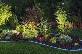 outdoor lighting ideas for backyard. A Garden Illuminated By LED Lighting. Outdoor Lighting Ideas For Backyard