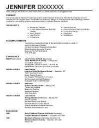 early childhood resume template loses advice cf