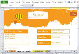 Trip Planner Excel Free Vacation Planner Excel Template