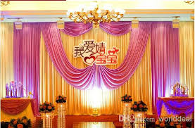 online cheap 3*6m wedding party stage celebration background satin Wedding Background Stage Designs online cheap 3*6m wedding party stage celebration background satin curtain drape pillar ceiling backdrop marriage decoration veil wd614 by worlddeal wedding stage background ideas