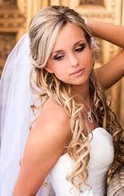 Nové Svatební účesy Pro Střední Vlasy Polovinu Dolů Se Závojem