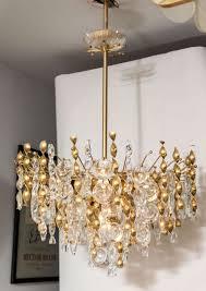 a fabulous jewel like gaetano sciolari pendant chandelier with crystal lens pendants and glass and