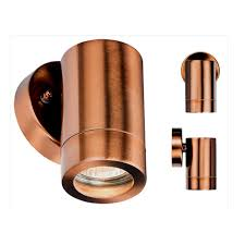 copper outdoor up down wall lights ip65 exterior