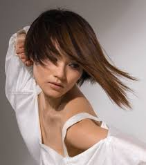 Short Asian Hair Style asian hair model sporting a bob hairstyle with a long strand 4302 by wearticles.com
