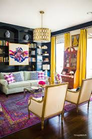 colorful living room ideas. Interior Design Success! Admiring This Stunning Living Room Project Featuring An Overdyed Zahra Rug From Colorful Ideas 5