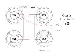 parallel speaker wiring diagram parallel image speaker wiring diagram series vs parallel speaker auto wiring on parallel speaker wiring diagram