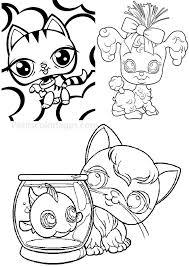 Coloriage Imprimer Petshop Petits Coloriages Petshop Chat Canard