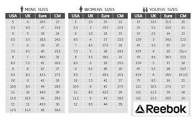 Reebok Shoe Size Chart For Kids 49 Valid Reebok Shoe Size Guide