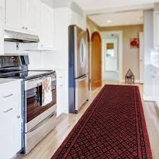 kitchen runner rug red