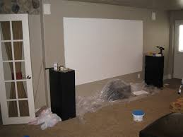 projector wall paintElektra 83 120 Drywall Screen Pics  Home Theater Forum and