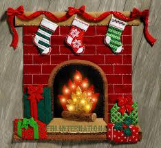 bucilla fireside glow felt wall hanging kit
